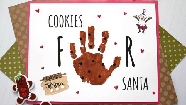 "Handprint ""Cookies For Santa"" Keepsake Craft For Christmas"