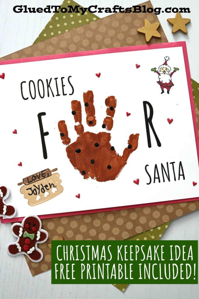 Handprint Cookies For Santa - Christmas Keepsake