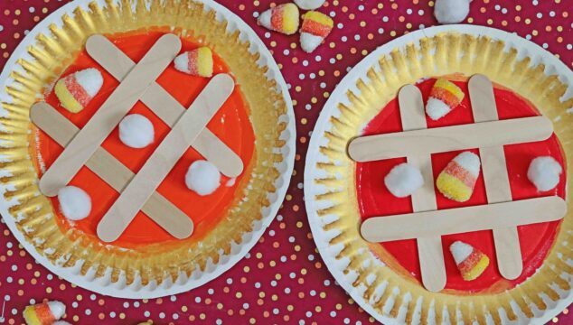 Paper Plate Pie Tic Tac Toe Game For Kids To Make