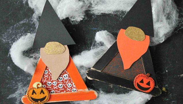 Popsicle Stick Halloween Gnome - Kid Craft