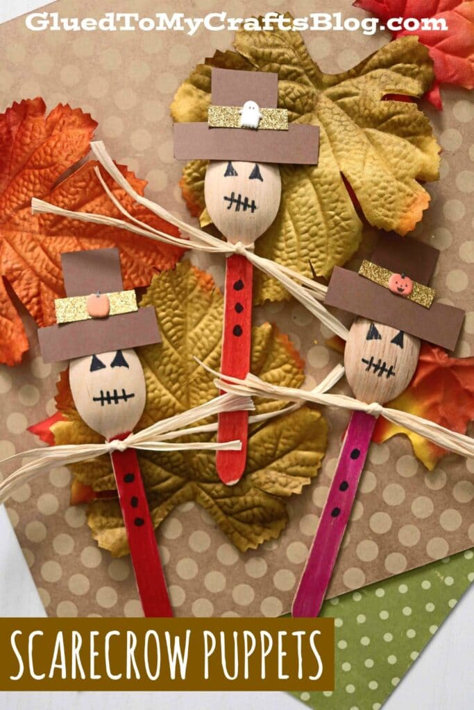 Wooden Spoon Scarecrow - Kid Craft Idea For Fall