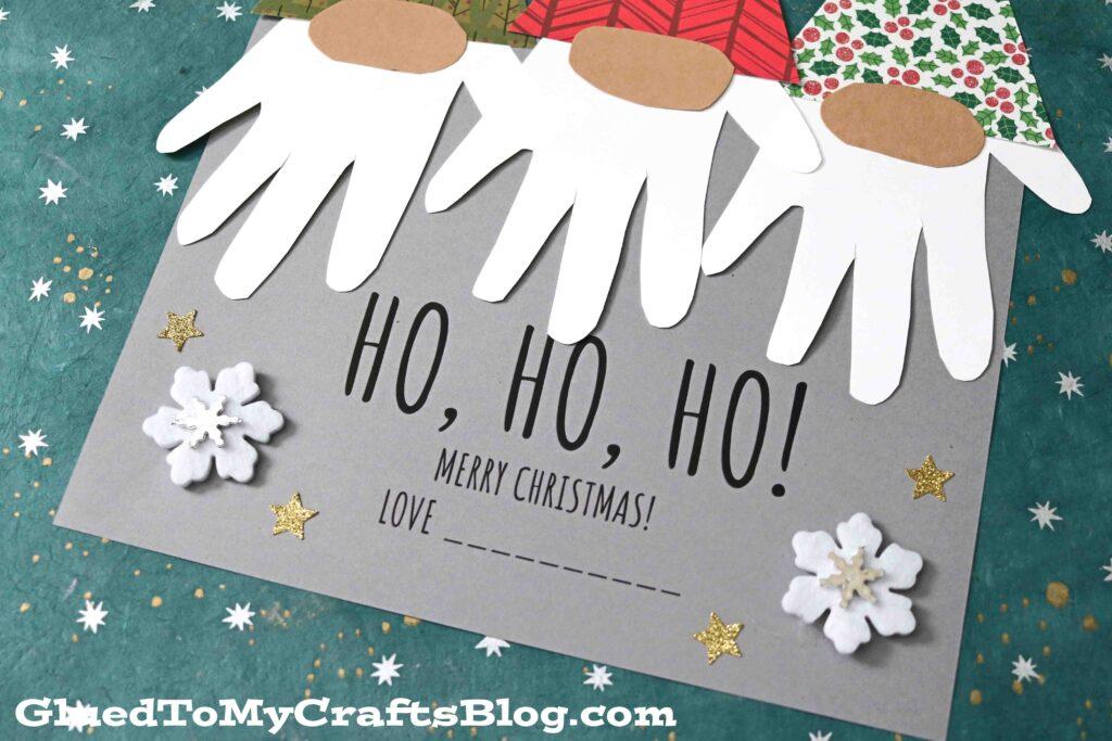 Handprint Santa & His Elves Gnome Keepsake Idea