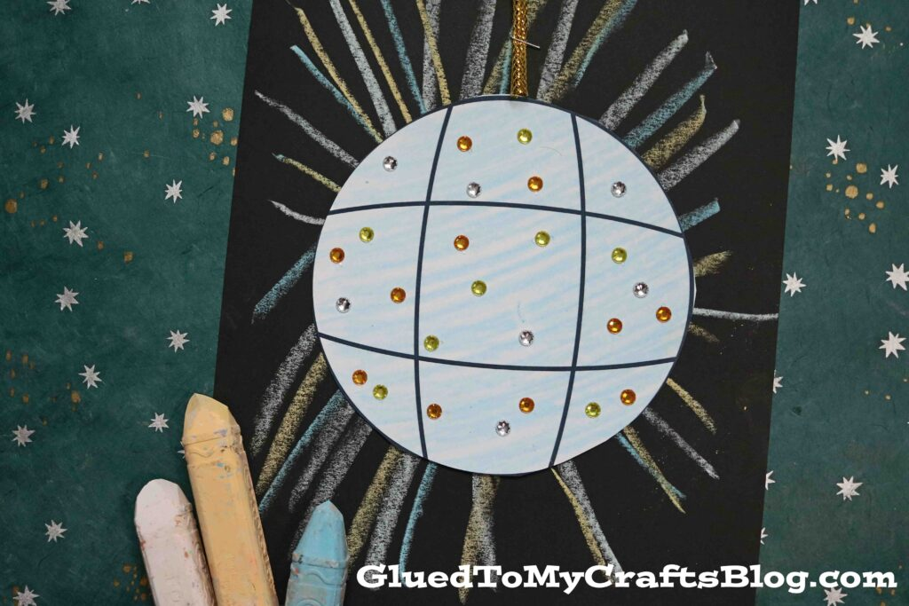 Chalk Art Disco Ball - New Year's Eve Kids Craft Idea