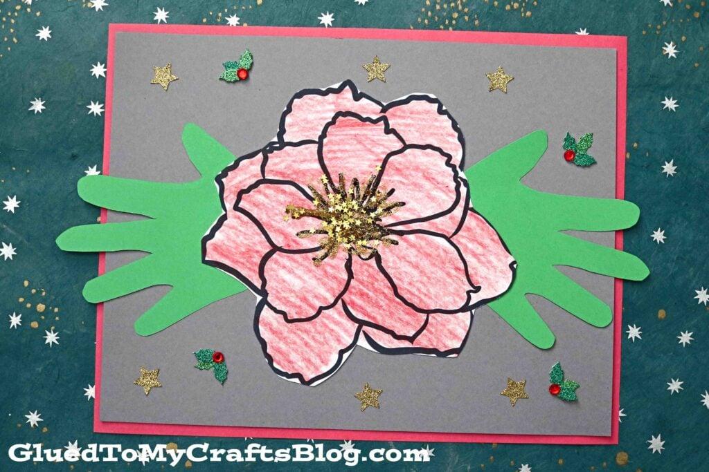 Handprint Poinsettia Flower Keepsake Craft For Kids