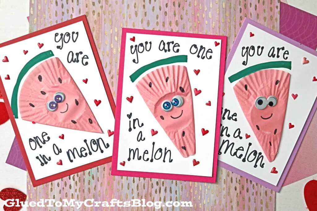 SUPER QUICK Cupcake Liner Watermelon Card Idea
