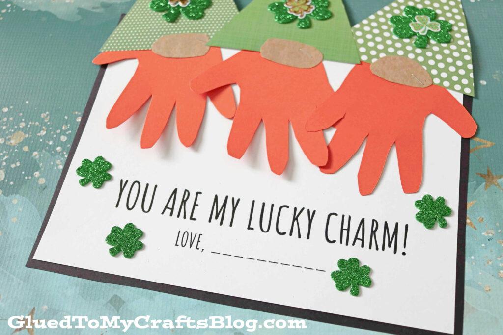 Handprint St. Patrick's Leprechaun Gnome - You Are My Lucky Charm Keepsake