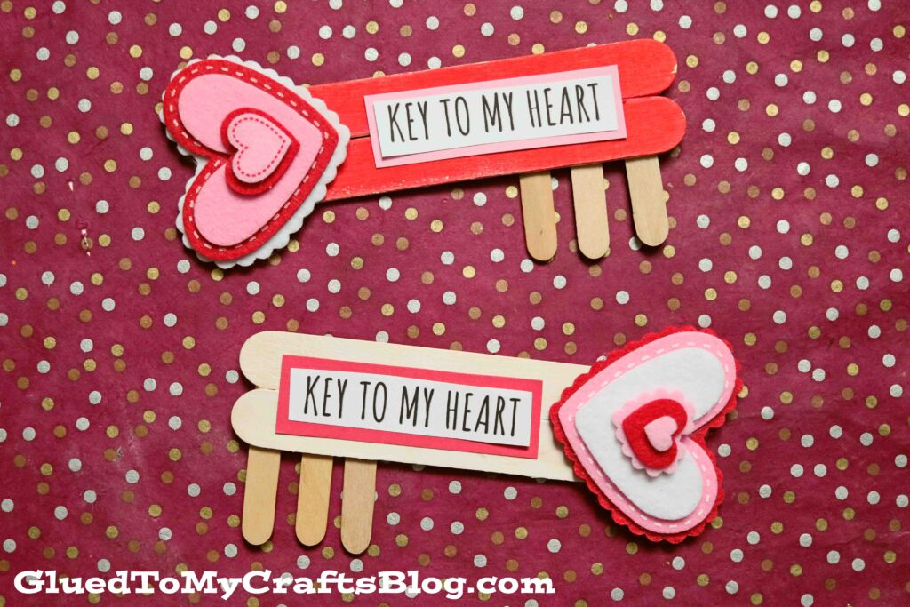 Popsicle Stick Key To My Heart - Valentine's Day Kid Craft Idea