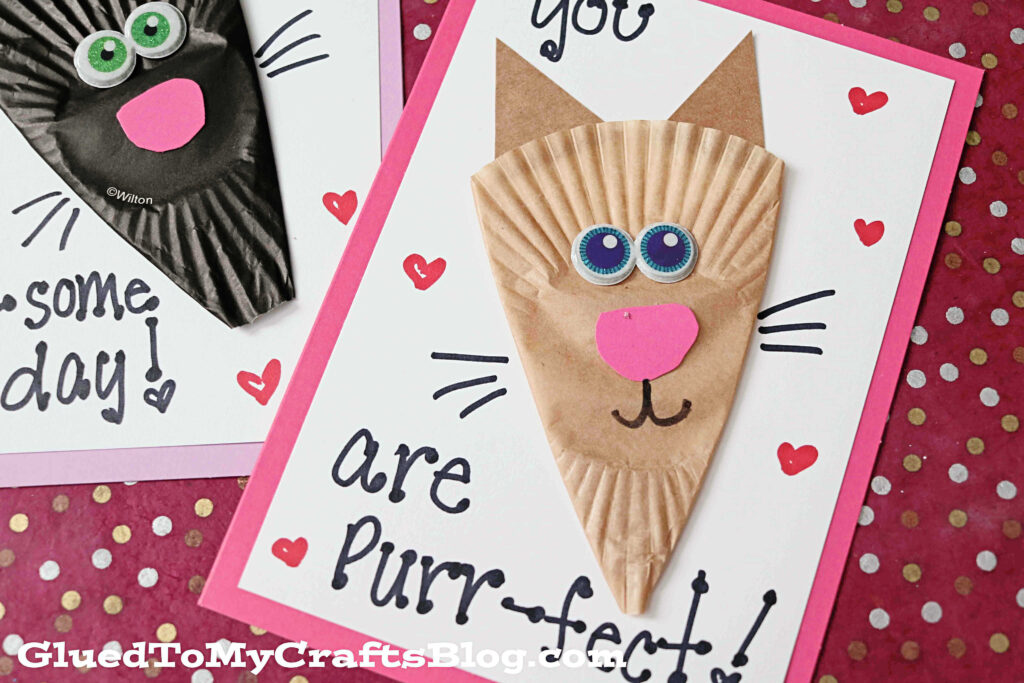 Cupcake Liner Cat Card Craft To Make For Someone Special Today!