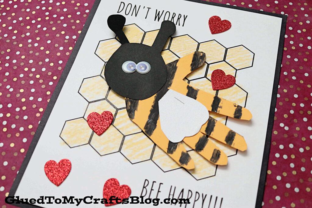 Don't Worry BEE Happy Keepsake - Kid Craft Idea