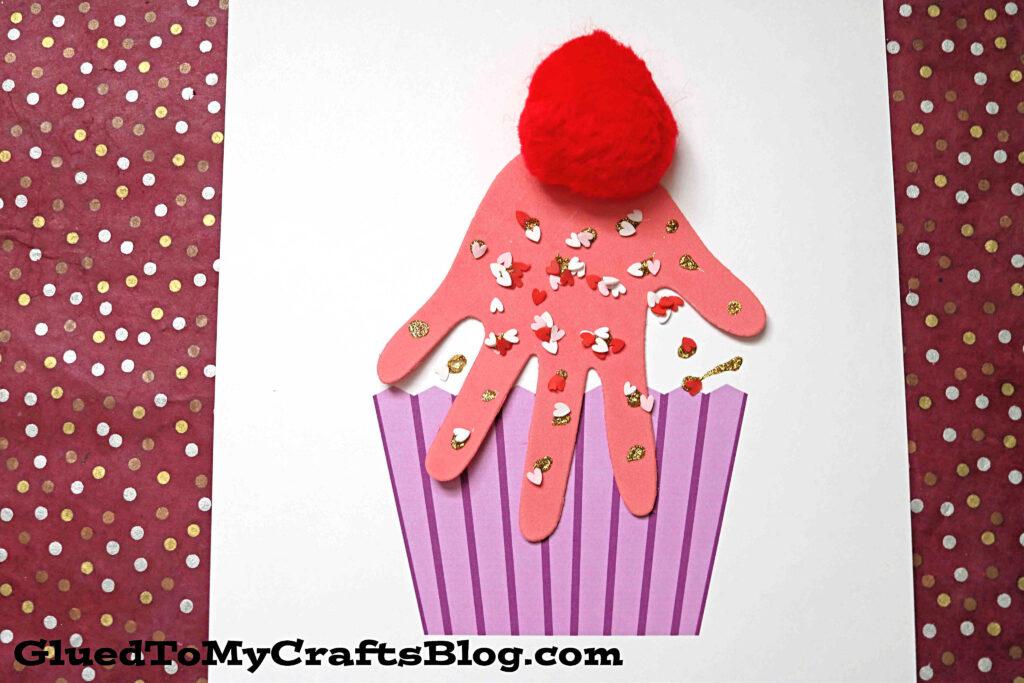 Paper & Handprint Cupcake Keepsake Craft For Kids