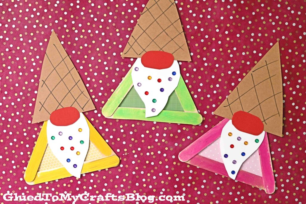 Popsicle Stick Ice Cream Gnome - Kid Craft Idea