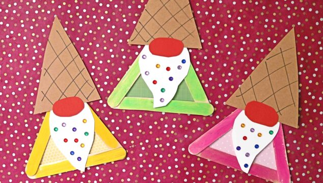 Popsicle Stick Ice Cream Gnome - Kid Craft Idea
