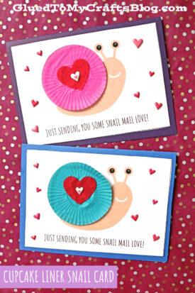 Cupcake Liner Snail Mail Card - Kid Craft Idea