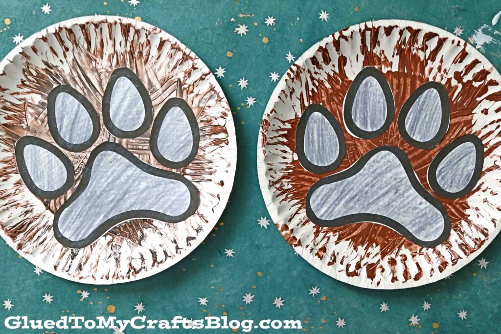 Paper Plate Dog Paw Print Craft For Kids To Recreate