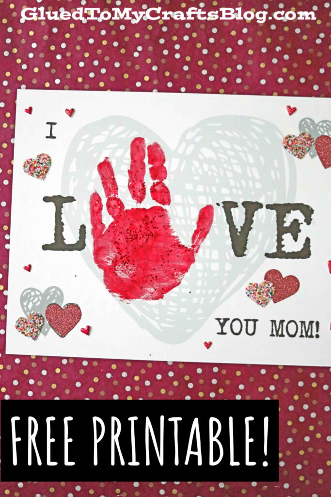 Handprint I Love You Mom Keepsake Craft For Mother's Day