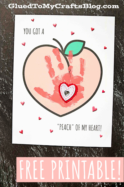 Handprint Peach of My Heart Keepsake - Kid Craft