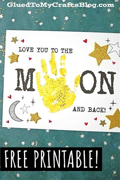 Handprint Love You To The Moon & Back Keepsake Craft