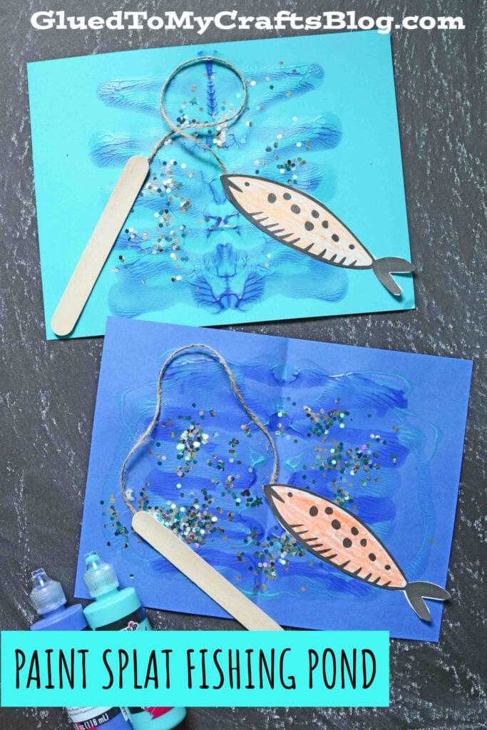 Paint Splat Fishing Pond - Kid Craft Idea For Summer