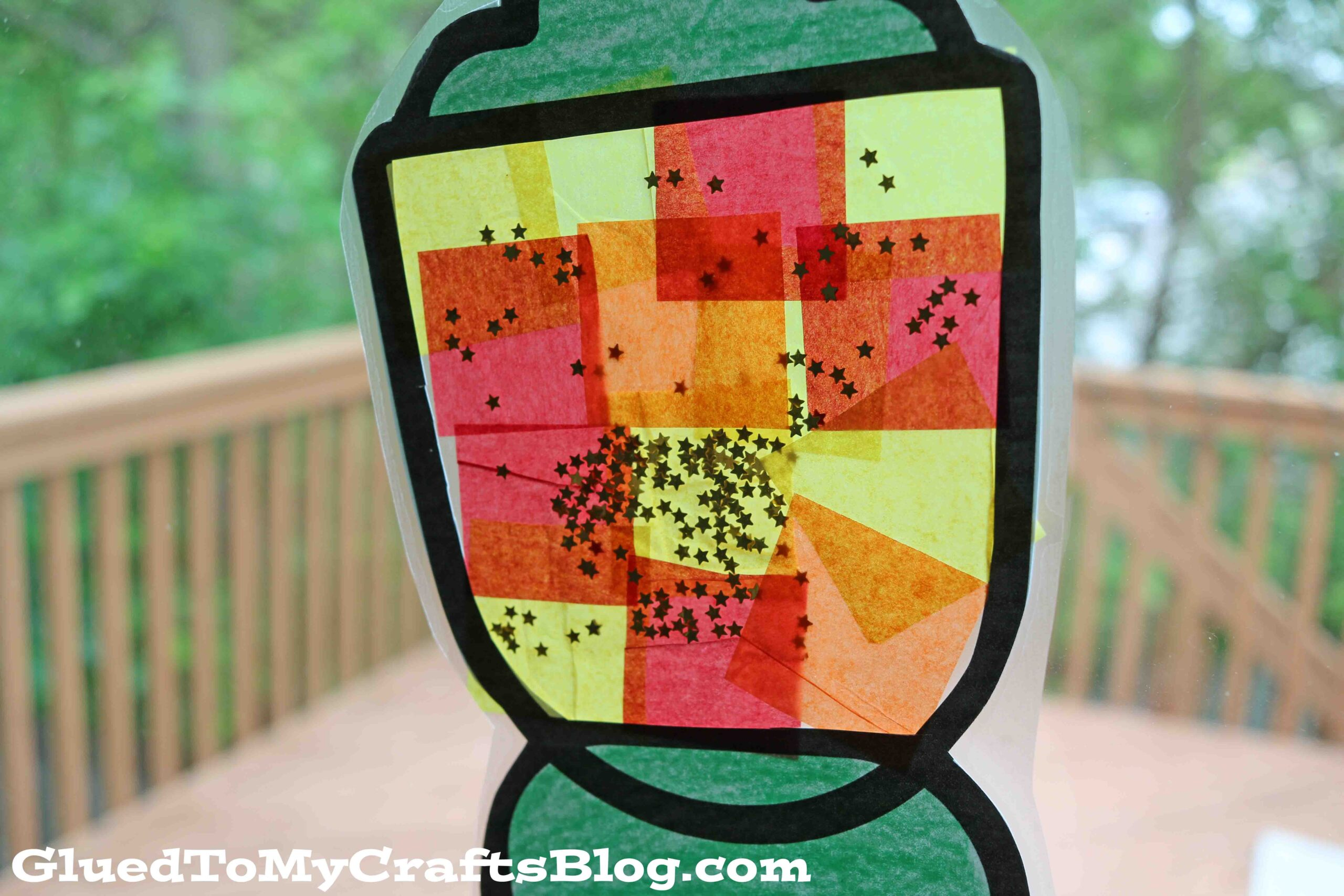 Stained Glass Camping Lantern Craft Idea For Kids