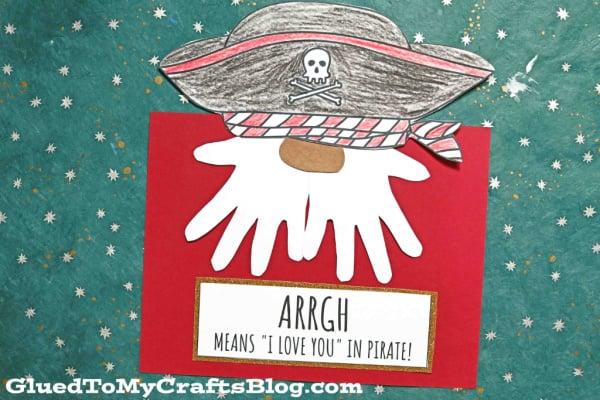 Handprint Pirate Gnome Craft For Kids - Keepsake Card