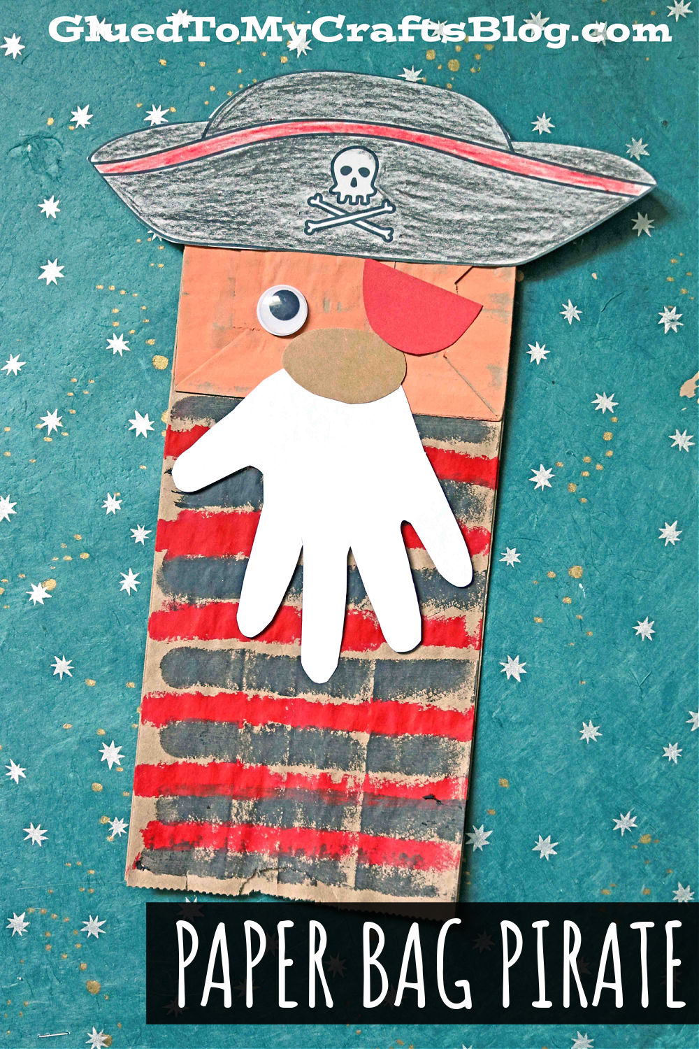Paper Bag Pirate Craft For Kids To Recreate