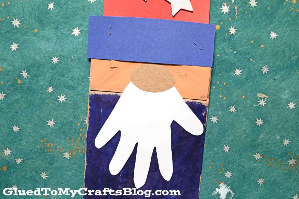 Paper Bag Uncle Sam Gnome - Kid Craft Idea