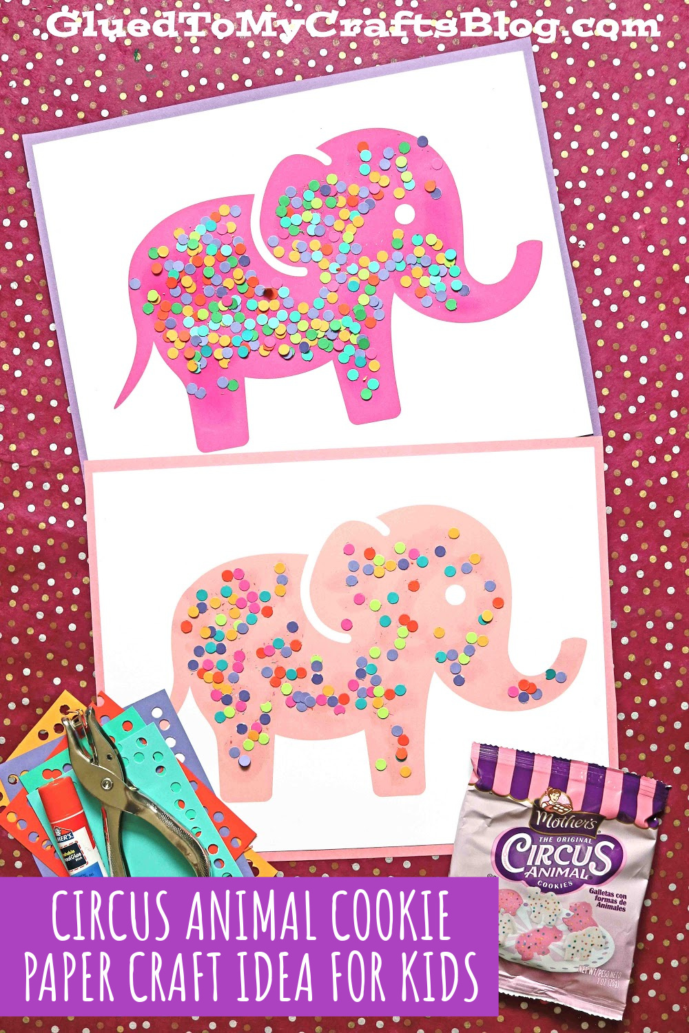 Paper Circus Animal Cookie Craft Idea For Kids