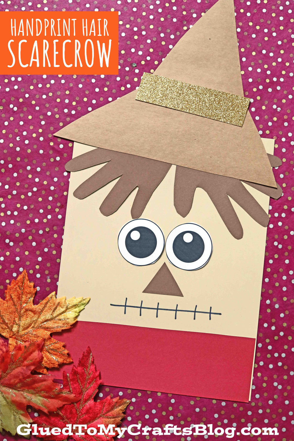 Paper Handprint Scarecrow Hair Craft For Kids To Make This Fall!