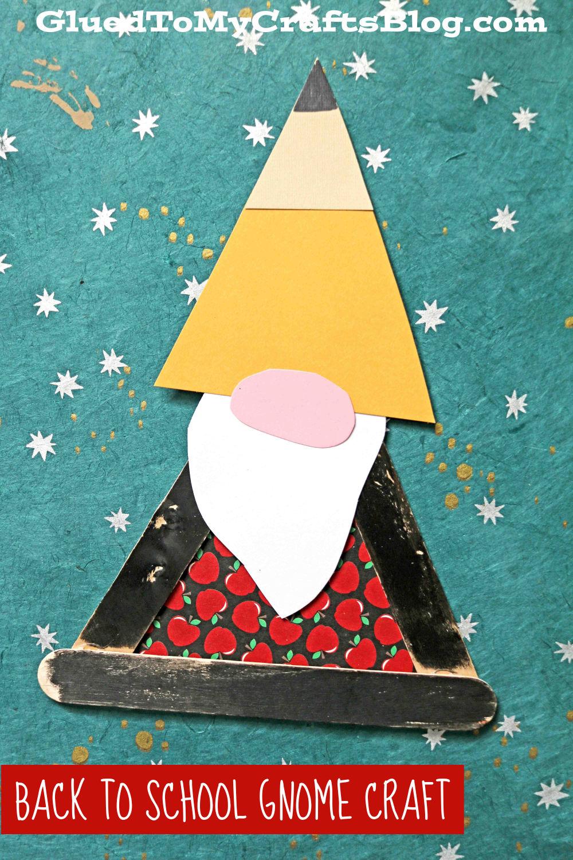 Craft Stick Back To School Gnome - Kid Craft
