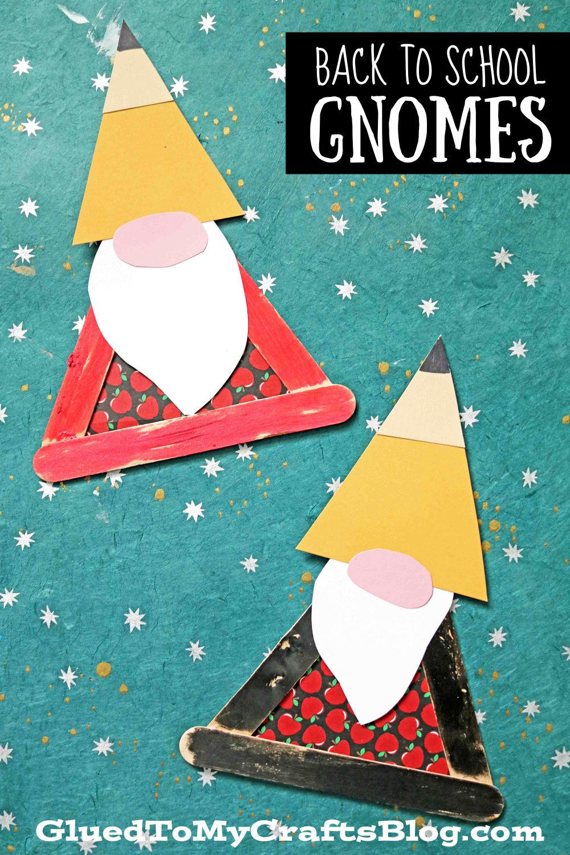 Popsicle Stick Pencil Hat Gnome - Kid Craft Idea