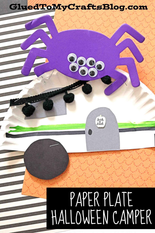 Paper Plate Haunted Halloween Camper - Kid Craft