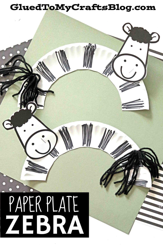 Paper Plate Zebra - Kid Craft Idea