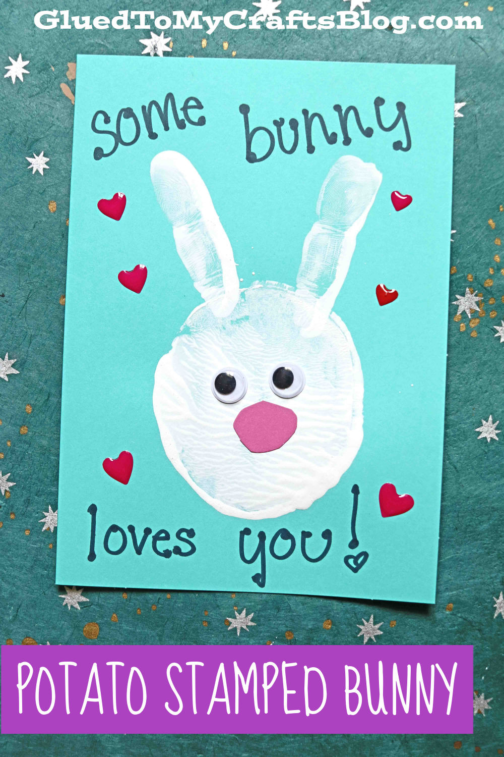 Potato Stamped Easter Bunny Cards - Kid Craft Idea For Spring