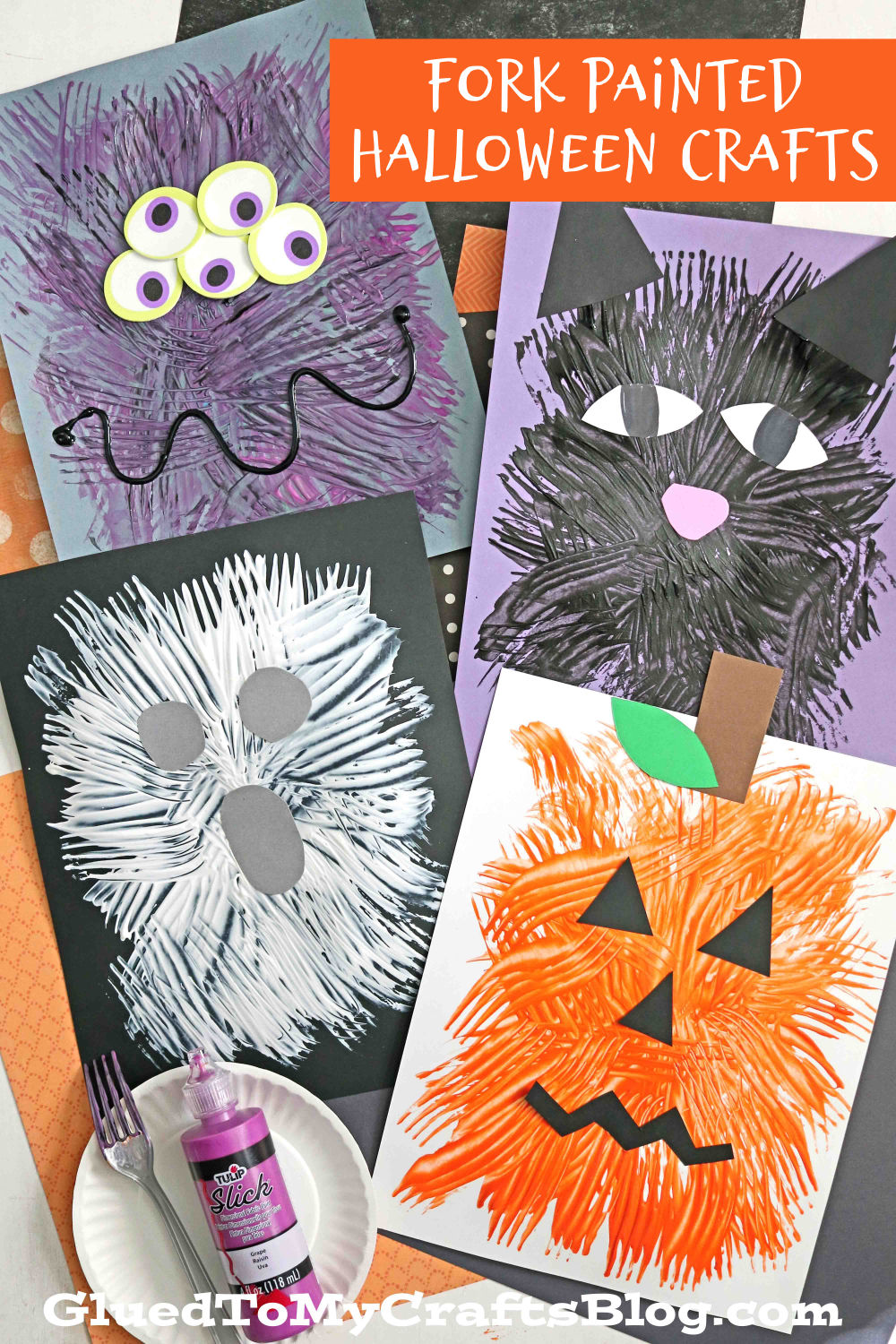 4 Fork Painted Halloween Craft Ideas For Kids