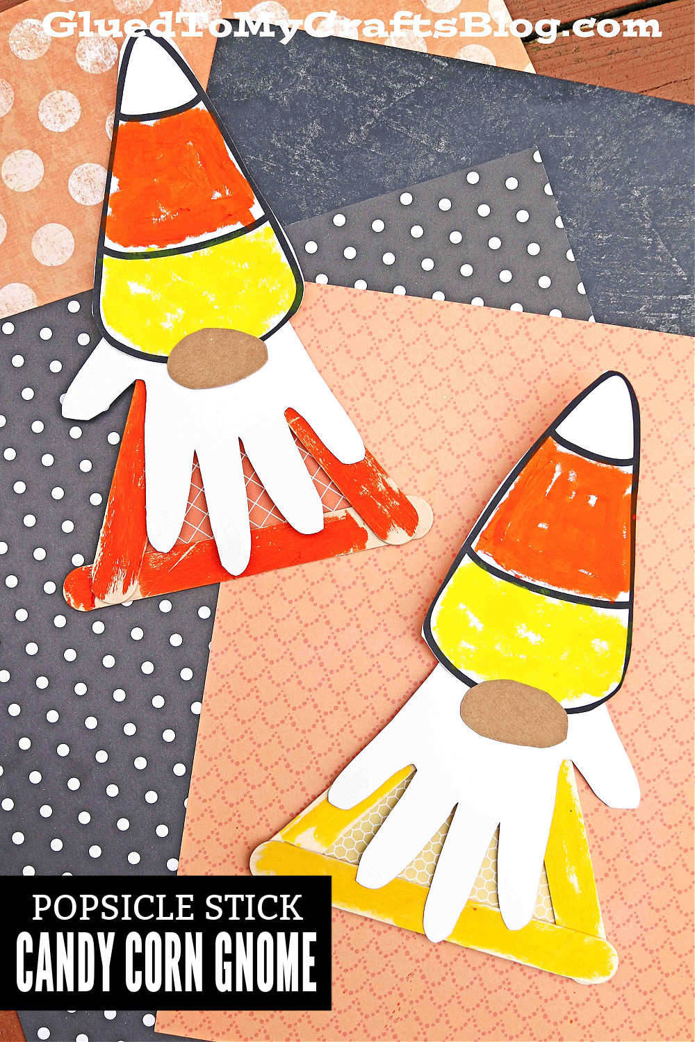 Candy Corn Gnome - Popsicle Stick Craft Idea For Halloween